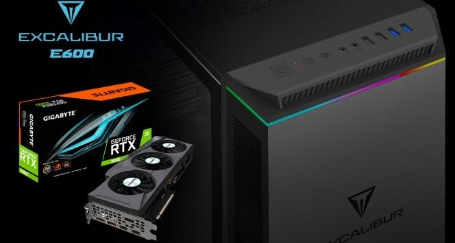 Excalibur E600 oyun bilgisayarı yeni NVDIA ekran kartları ile satışta
