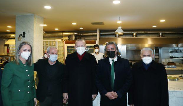Başkan Erdoğan, İzmir'de esnafı ziyaret etti