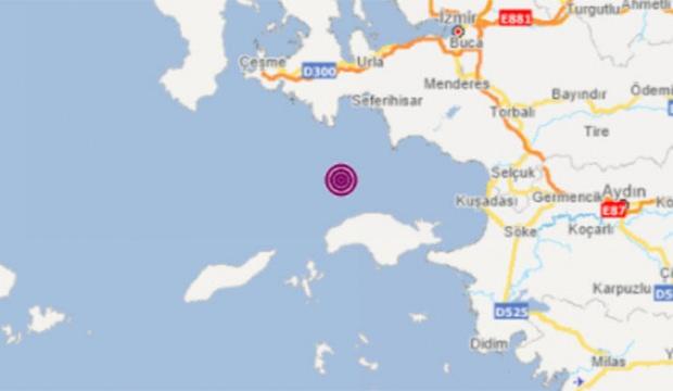 İzmir açıklarında deprem!