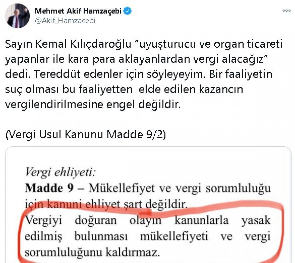 Kılıçdaroğlu nun kanunsuz işlerden vergi alınsın sözüne CHP li vekilden destek #1