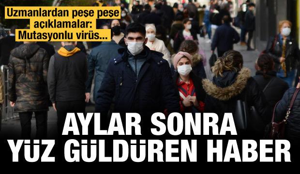 Uzmanlar açıkladı: Mutasyonlu virüste yüz güldüren haber!