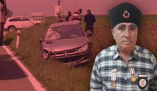 Kıbrıs gazisi kazada hayatını kaybetti!