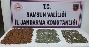 Samsun'da 2 bin 333 tarihi sikke ele geçirildi